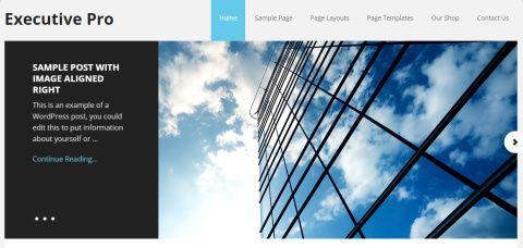 Slideshow and Header - Executive Pro