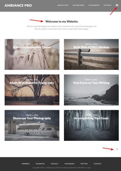 Ambiance Pro Demo - StudioPress - Genesis WordPress Blog Theme
