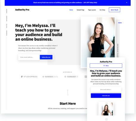 Authority Pro StudioPress : Genesis Business WordPress Theme