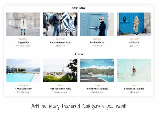 Category Widgets - Monte Homepage