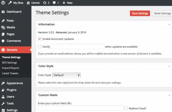 Centric Pro Features and Theme Settings Options