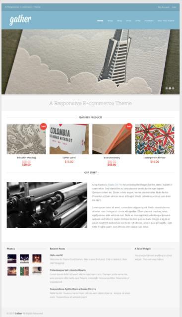ThemeTrust Gather Demo : WooCommerce WordPress Theme