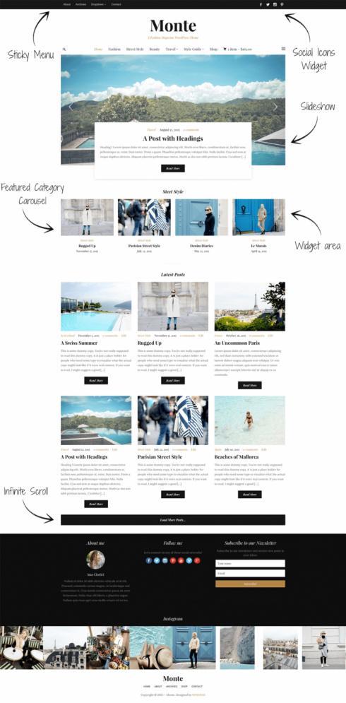 Monte Demo WPZOOM – Best Responsive WordPress Magazine Theme