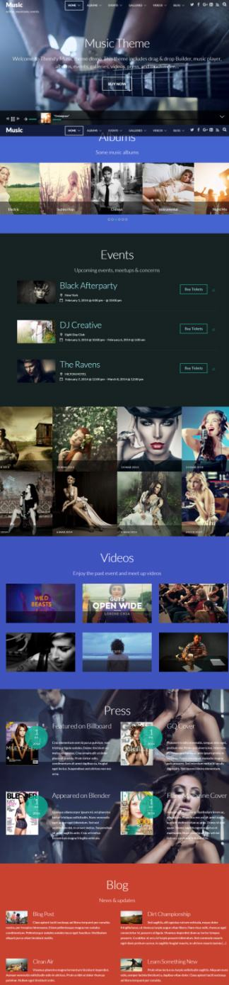 Music Themify : Band Event WordPress Theme for Musicians