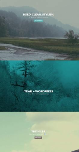 Parallax Homepage Slideshow - Trail