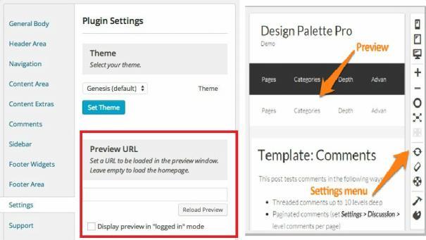 Preview Settings - Design Palette Pro