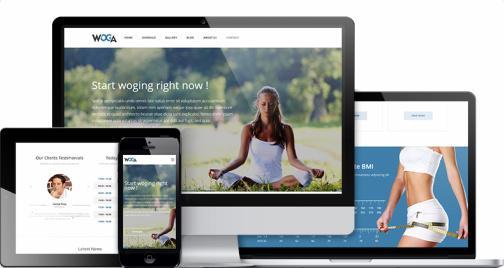 Responsive Gym Yoga Theme