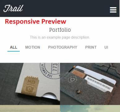 Responsive Portfolio Theme - Trail
