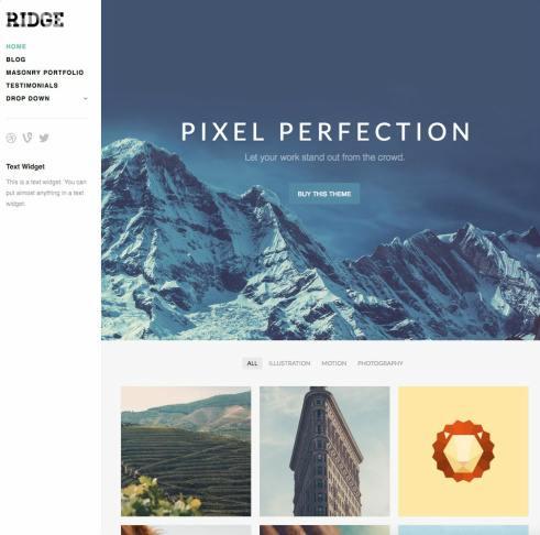 Ridge Demo ThemeTrust : Responsive Portfolio WordPress Theme