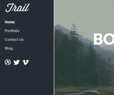 Sidebar Left - Trail Theme