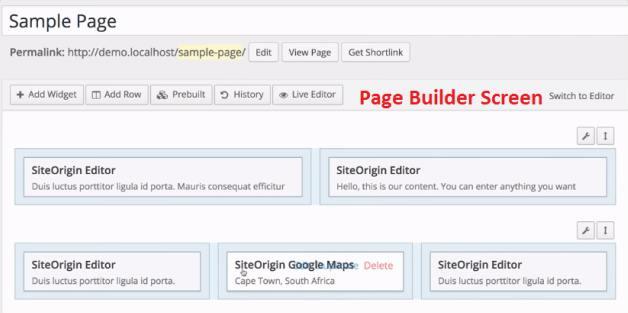 SiteOrigin Page Builder - Trade