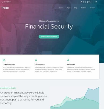 Trade ThemeTrust - Premium Business WordPress Theme