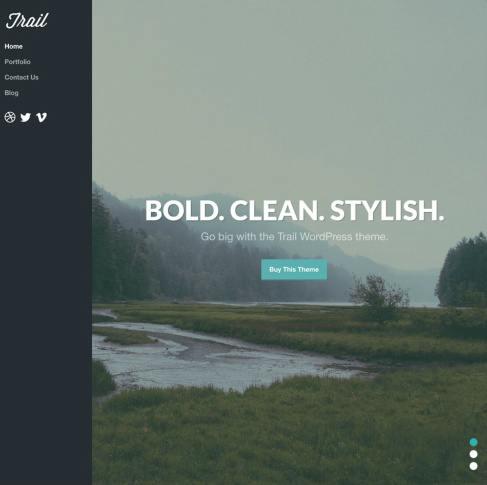 Trail ThemeTrust : Parallax Portfolio WordPress Theme