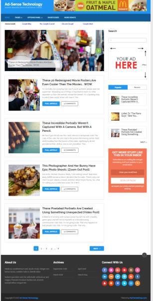 Ad-Sense MyThemeShop Demo : Best Adsense Blog WordPress Theme