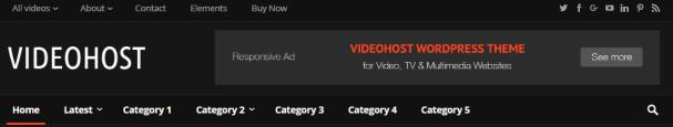 Header Styling Options - VideoHost Happy Themes