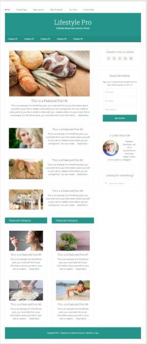 Lifestyle Pro StudioPress - Genesis Child WordPress Theme