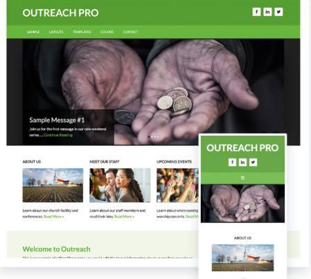 Outreach Pro StudioPress - Genesis Church WordPress Theme