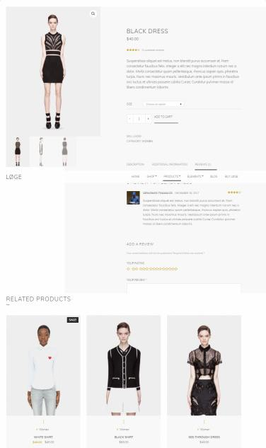 Product Page - Loge eCommerce Theme