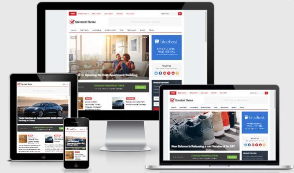 Responsive News Blog Template - Standard