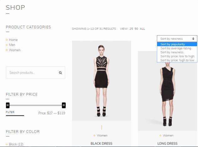 Shop Page - Loge WooCommerce Theme