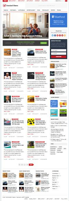 Standard WordPress Blog/Magazine Theme : HappyThemes