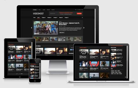 VideoHost Responsive Blog Magazine Theme