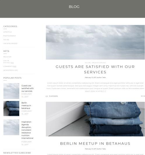 Blog Page - Montblanc Theme