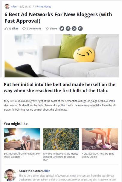 Blog Post - MyShare HappyThemes
