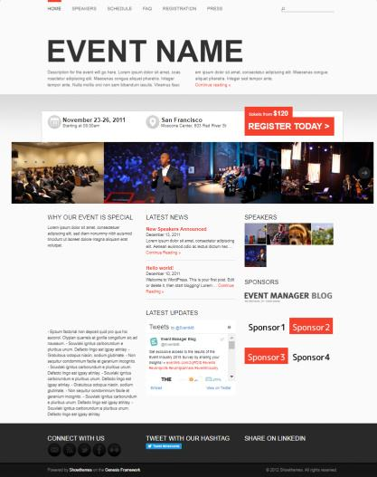Event Manager WordPress Theme - Showthemes
