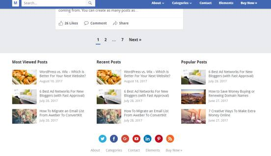 Footer Widgets and Pagination - MyShare Theme