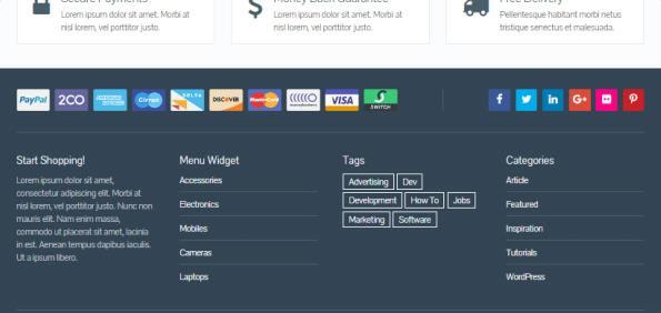 Footer Widgets - eCommerce MyThemeShop