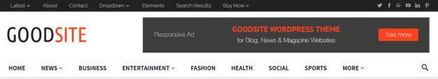 Header Menu - GoodSite Blog Theme