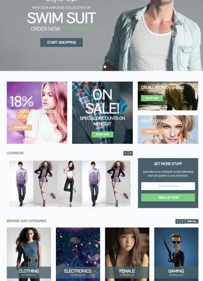 Homepage Featured Carousel and Categories - eCommerce MyThemeShop