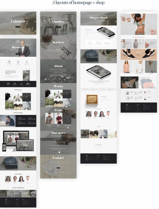 Homepage Layouts - Montblanc