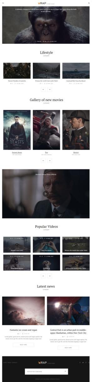 Homepage Layouts - Wrap
