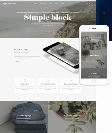 Montblanc Multi-Purpose WordPress Theme : TeslaThemes