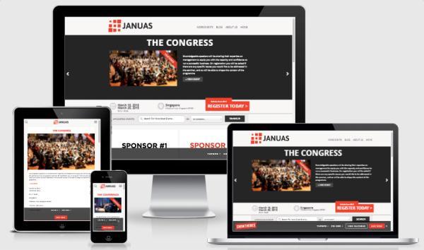 Responsive Event WordPress Theme - Januas