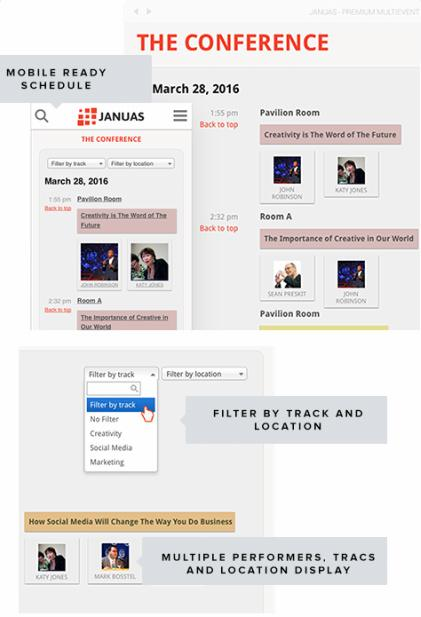Schedule and Performer Management - Januas Event Template