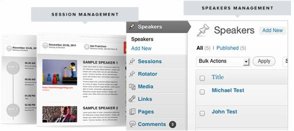 Speakers and Sessions Management - Event Manager Theme