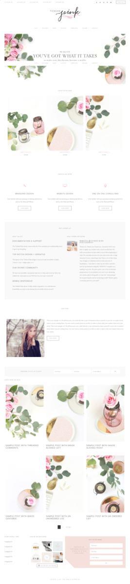 Tickled Pink Feminine WordPress Theme - Restored 316 Demo