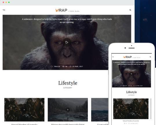 Wrap TeslaThemes : Best Video Blogging WordPress Theme