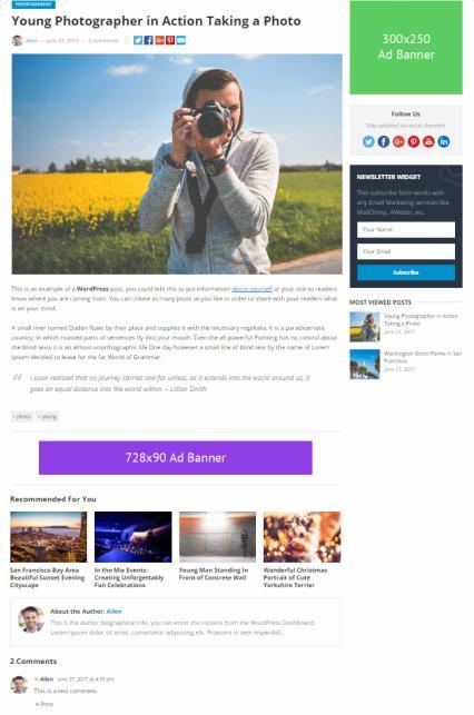 Blog Post - NewsNow HappyThemes