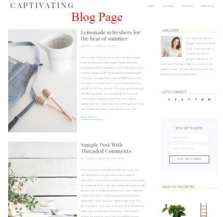 Blog Template - Captivating Theme