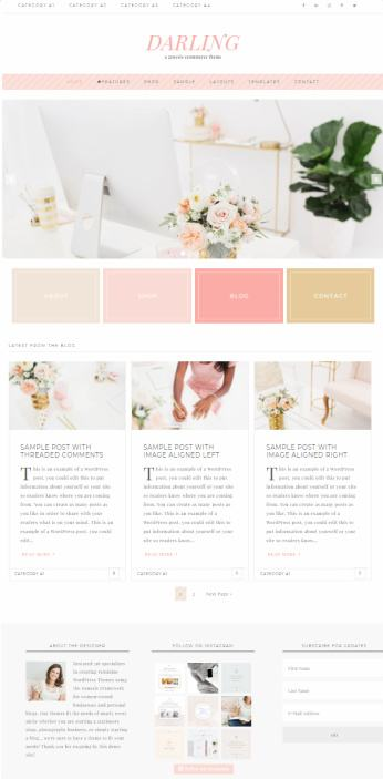 Darling WordPress Genesis Blog Theme : Restored 316