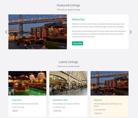Featured Directory Listings - Vantage AppThemes