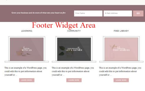 Footer Widgets - Cultivate Theme