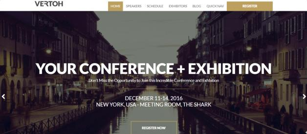 Header Layouts - Vertoh Conference Theme