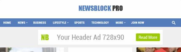 Header Navigation - NewsBlock Theme