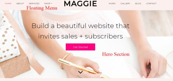 Hero Block - Maggie Theme