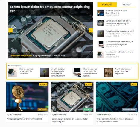 Homepage Slider and Post Layouts - Crypto Mythemeshop